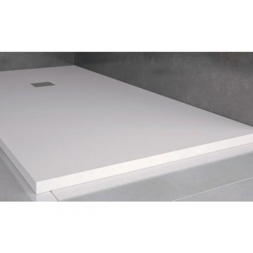 Composiet douchebak Solid Eco 100x140cm wit structuur egaal