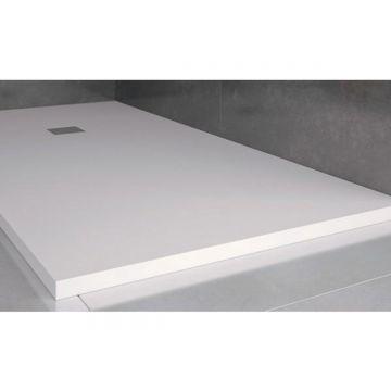 Composiet douchebak Solid Eco 100x120cm wit structuur egaal