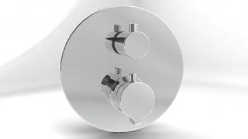 Thermostatische inbouwkraan Jolie met omstelregeling chroom