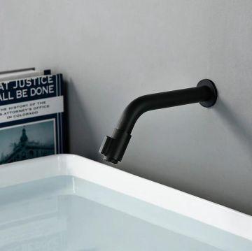 Inbouw fonteinkraan Tube mat zwart