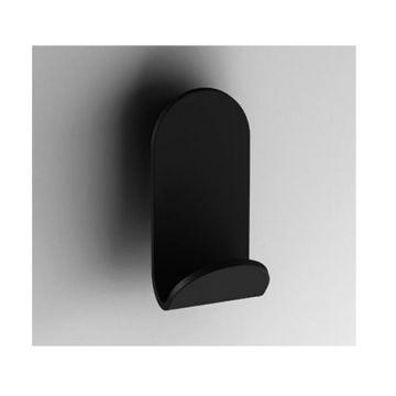 Design kleding- en handdoekhaak S5 mat zwart