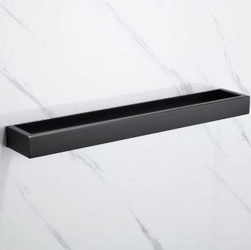 Handdoekhouder Cubic mat zwart 40 cm