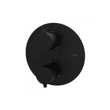 Inbouw thermostaatkraan Nero mat zwart rond