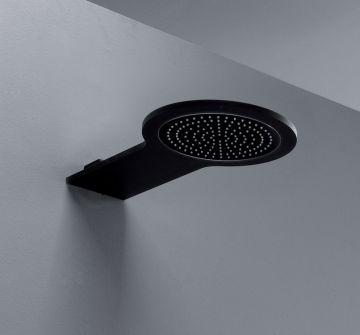 Inbouw hoofddouche Newton 47x24cm aluminium mat zwart