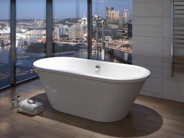 Vrijstaand acryl bad Loft 180x80cm wit met paneel